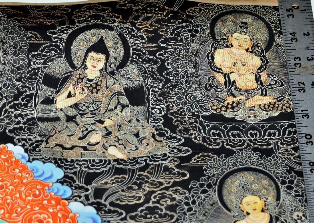 Tibetan tangka Buddha demons dragon in center - 5