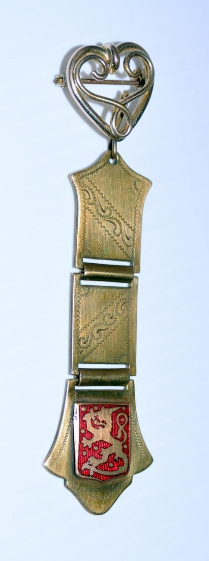 Pin watch fob Victorian lion