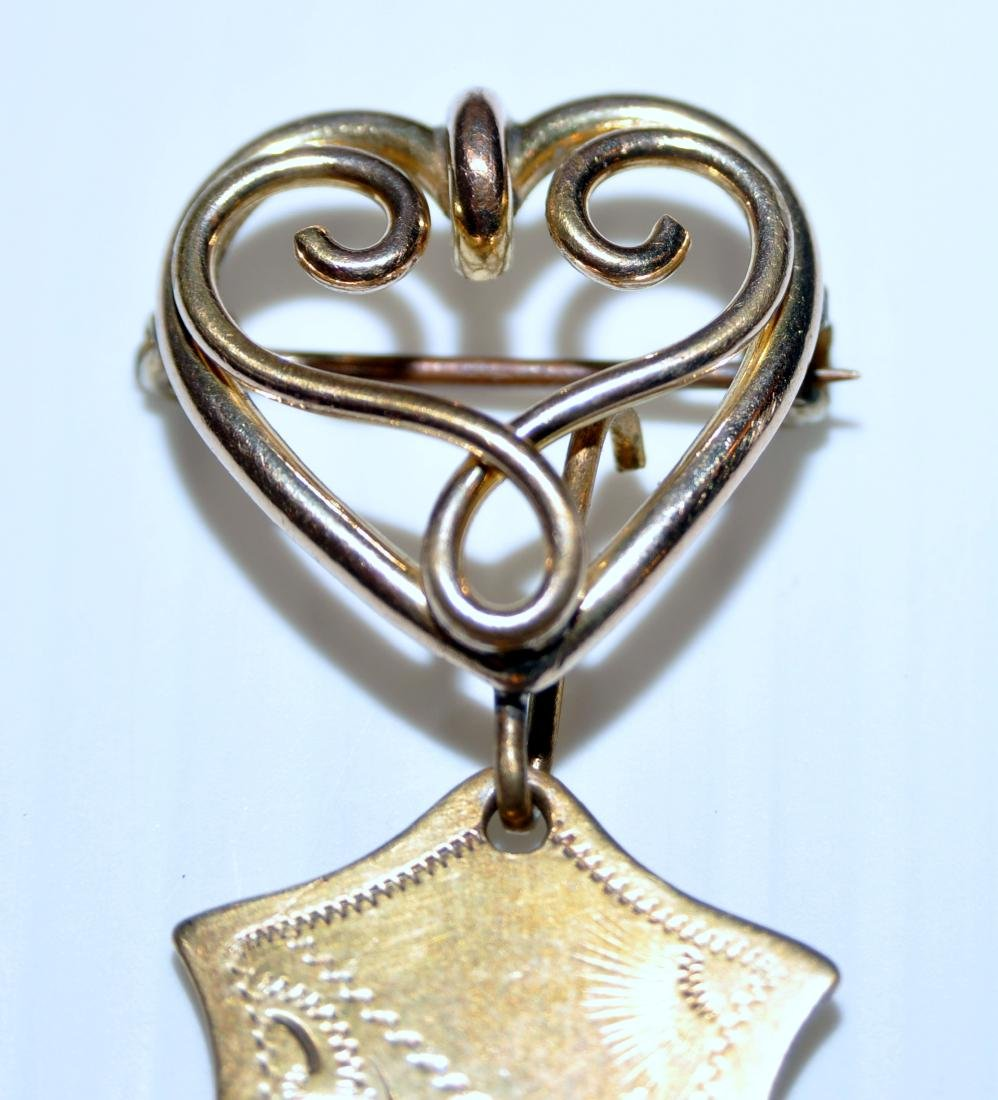 Pin watch fob Victorian lion - 6