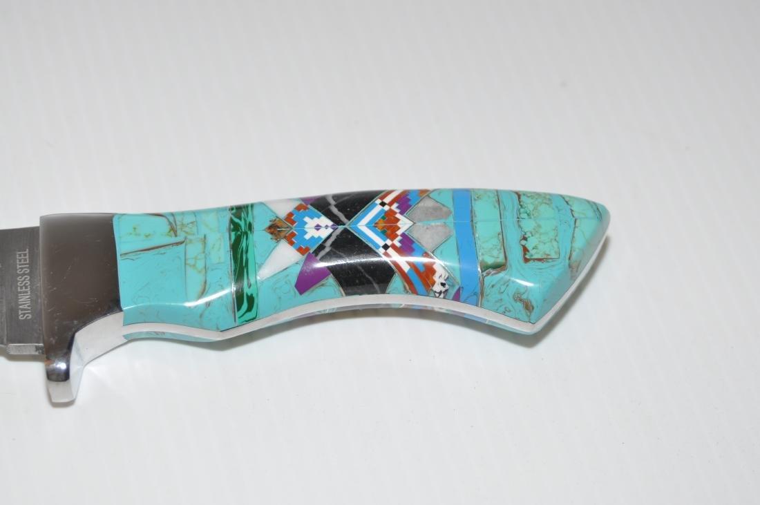 Knife turquoise inlaid Zuni style - 2