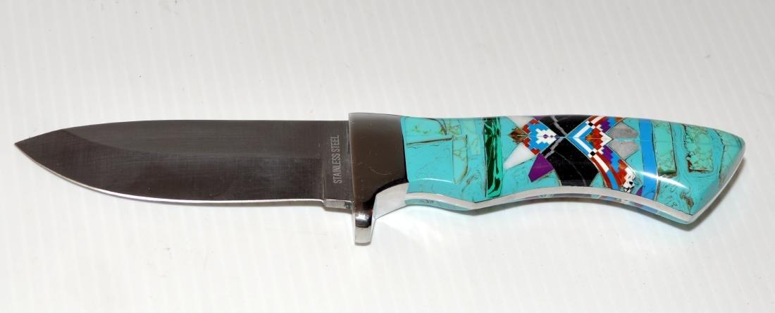 Knife turquoise inlaid Zuni style - 3