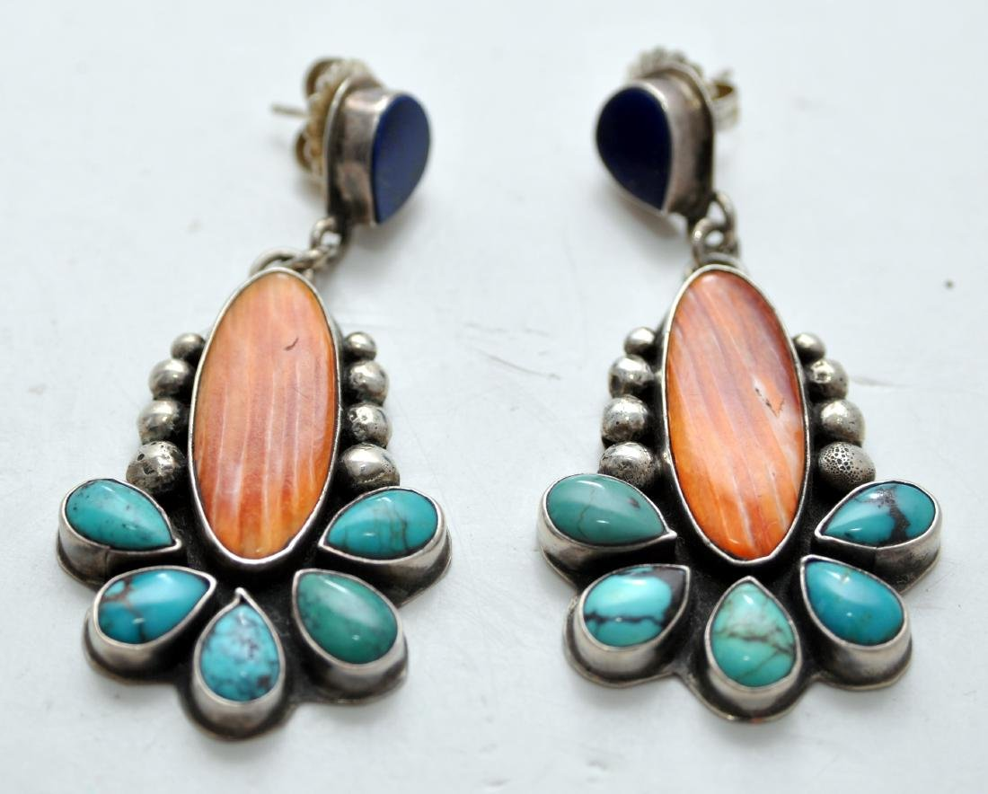 Sterling American Indian earrings signed