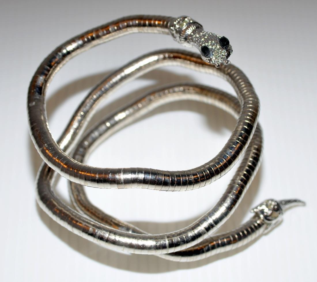 Bracelet necklace snake head jewelry