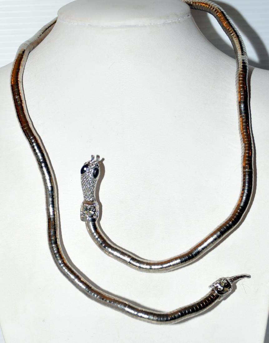 Bracelet necklace snake head jewelry - 4
