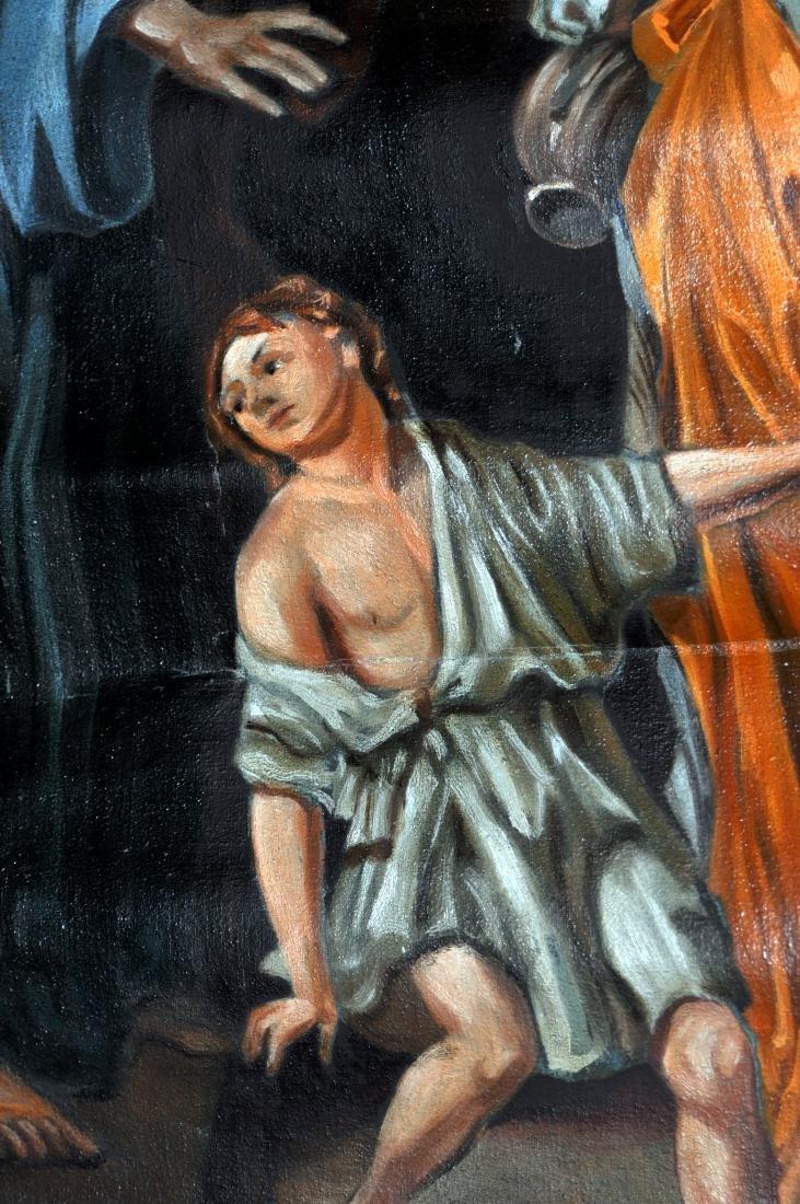 Oil canvas Genesis Abraham exiles Haegar - 8