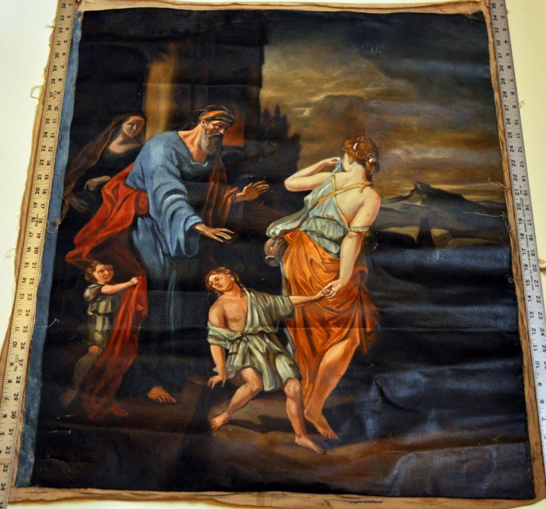 Oil canvas Genesis Abraham exiles Haegar