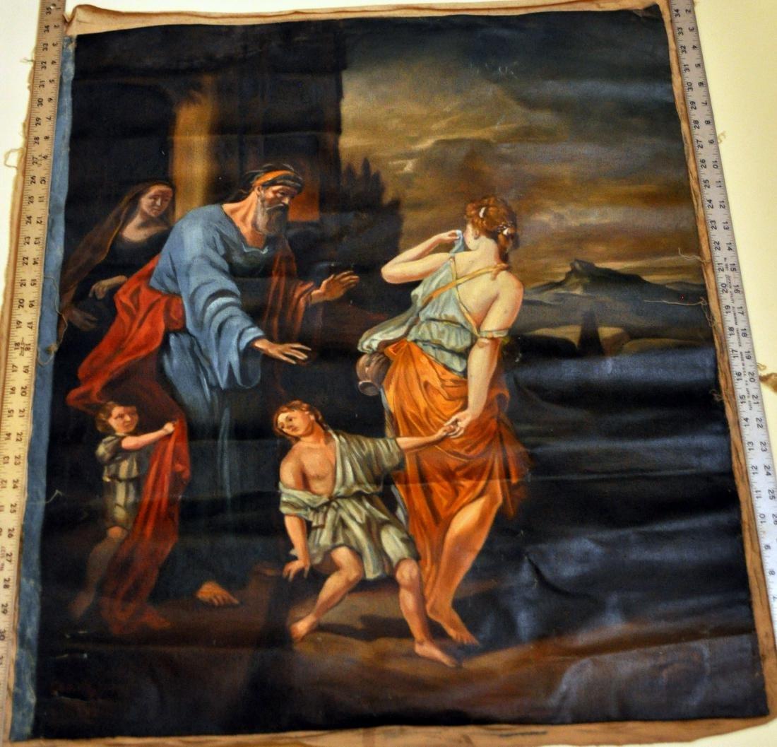 Oil canvas Genesis Abraham exiles Haegar - 2