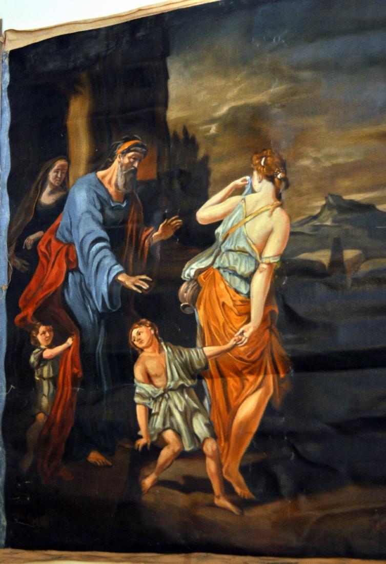 Oil canvas Genesis Abraham exiles Haegar - 3