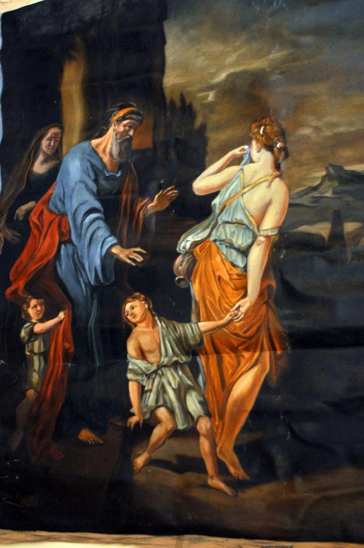 Oil canvas Genesis Abraham exiles Haegar - 4
