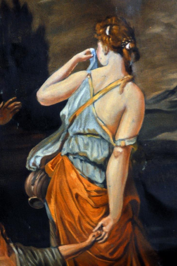 Oil canvas Genesis Abraham exiles Haegar - 5