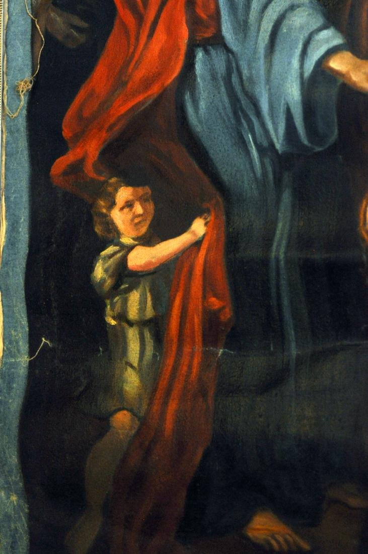 Oil canvas Genesis Abraham exiles Haegar - 6