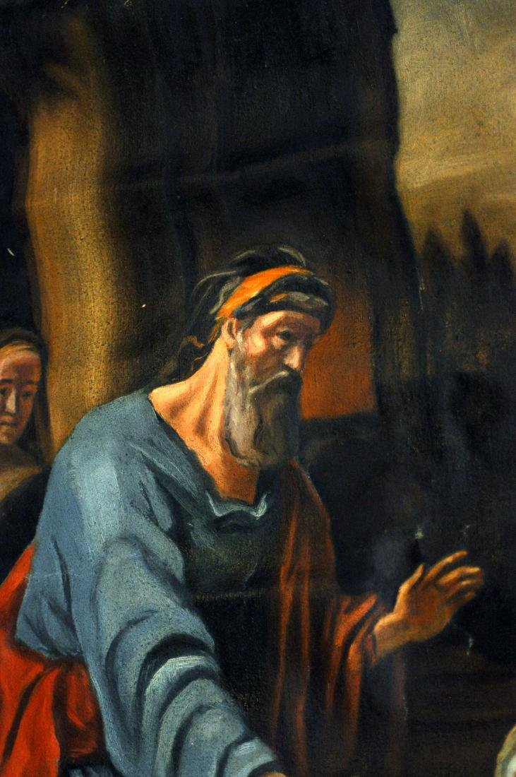Oil canvas Genesis Abraham exiles Haegar - 7