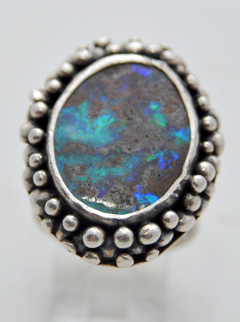 Australian opal cabochon ring custom