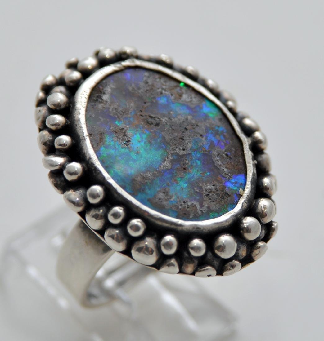 Australian opal cabochon ring custom - 2