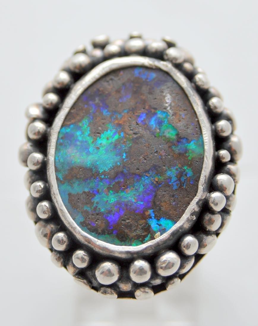 Australian opal cabochon ring custom - 3