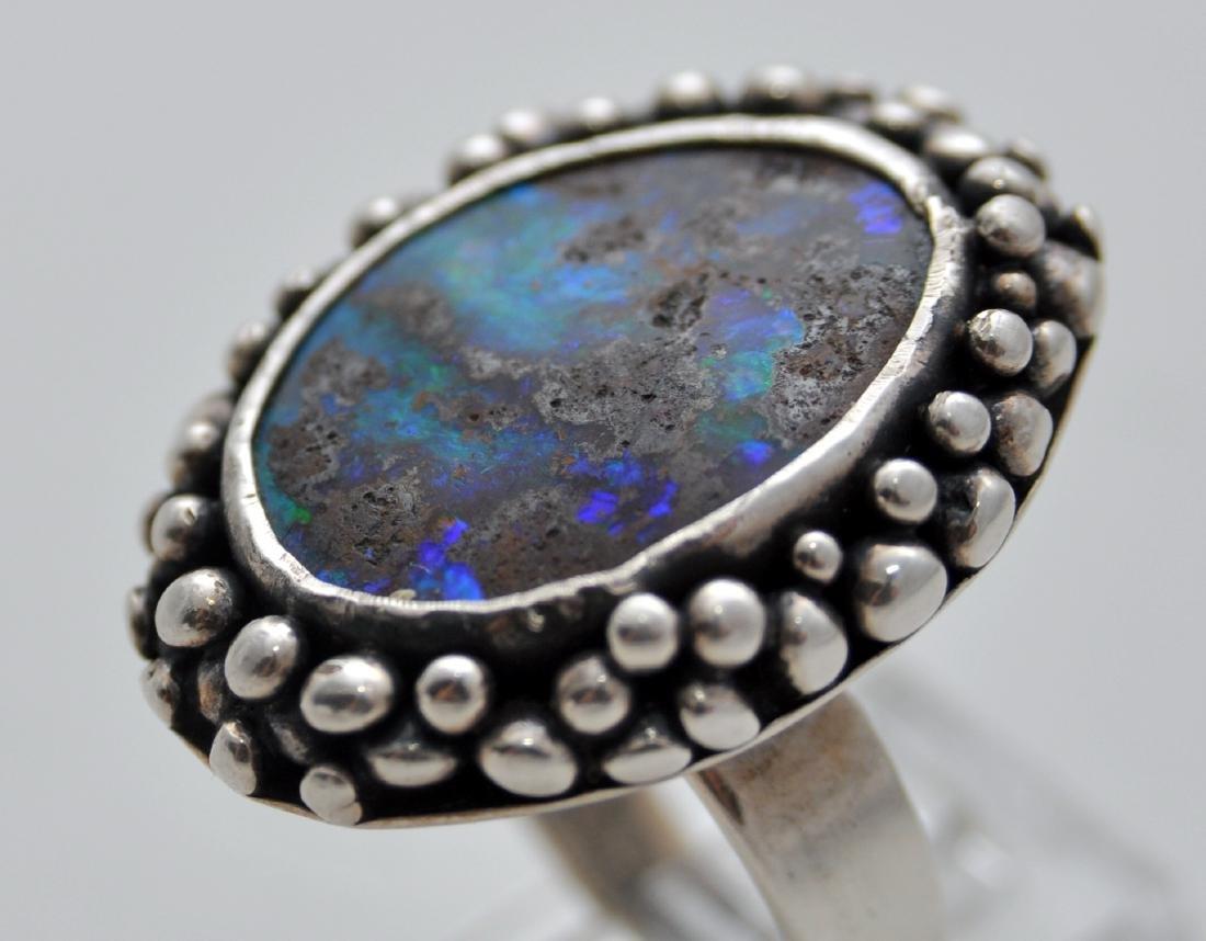 Australian opal cabochon ring custom - 4