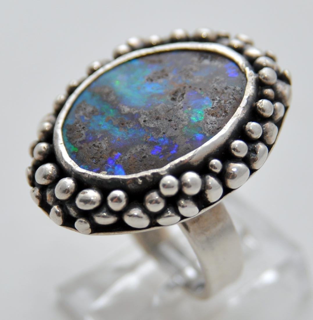 Australian opal cabochon ring custom - 5