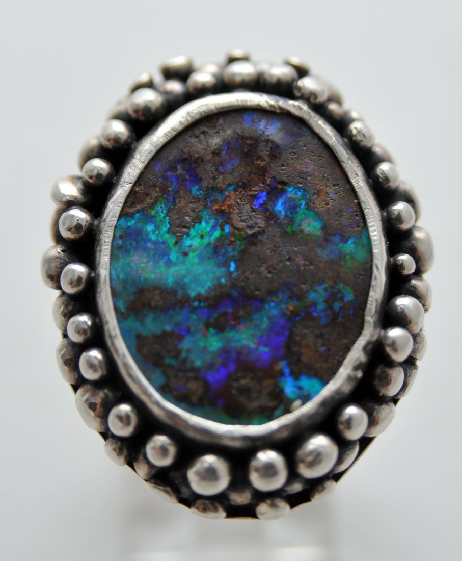 Australian opal cabochon ring custom - 6