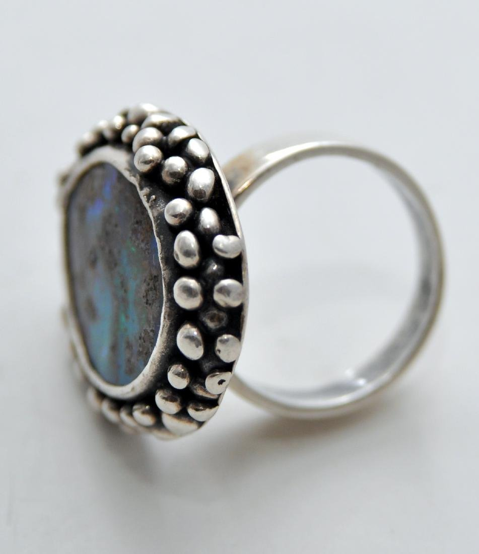 Australian opal cabochon ring custom - 7