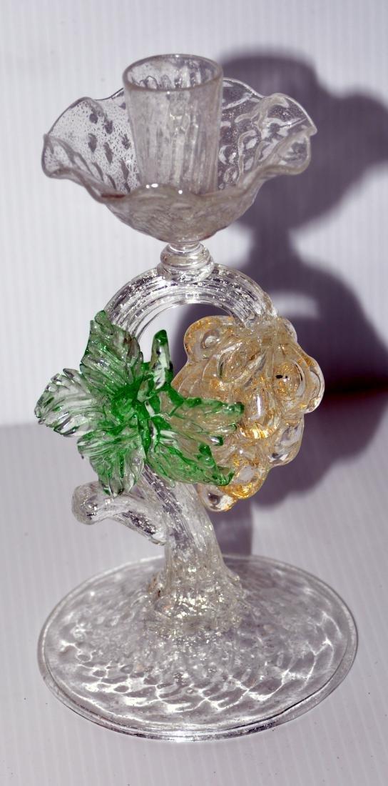 Murano glass candlestick hand blown