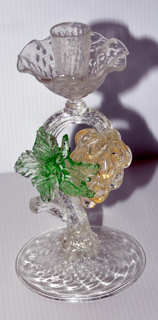 Murano glass candlestick hand blown