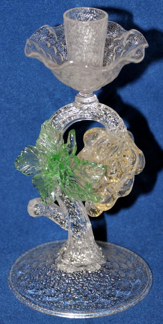 Murano glass candlestick hand blown - 2