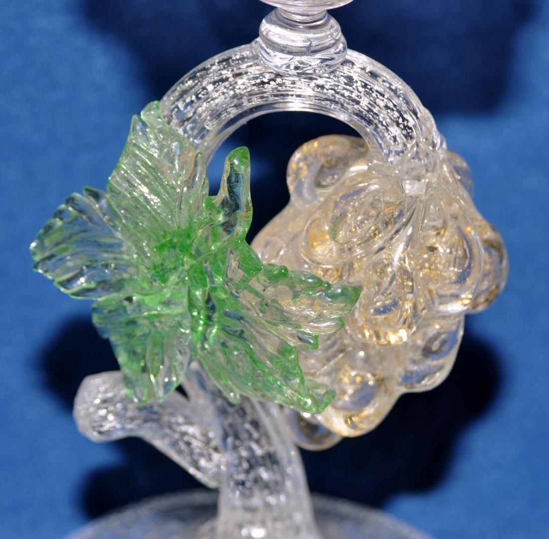 Murano glass candlestick hand blown - 4