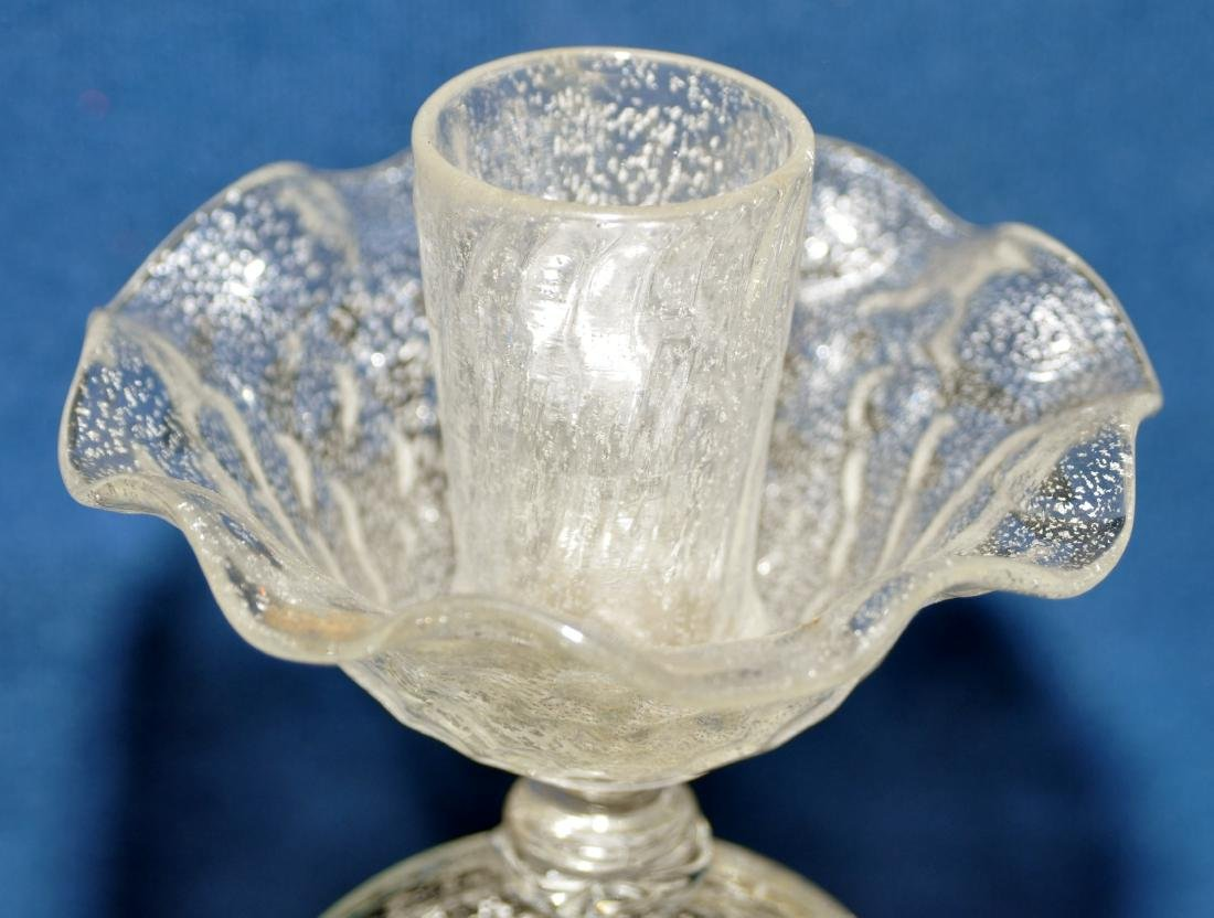 Murano glass candlestick hand blown - 5
