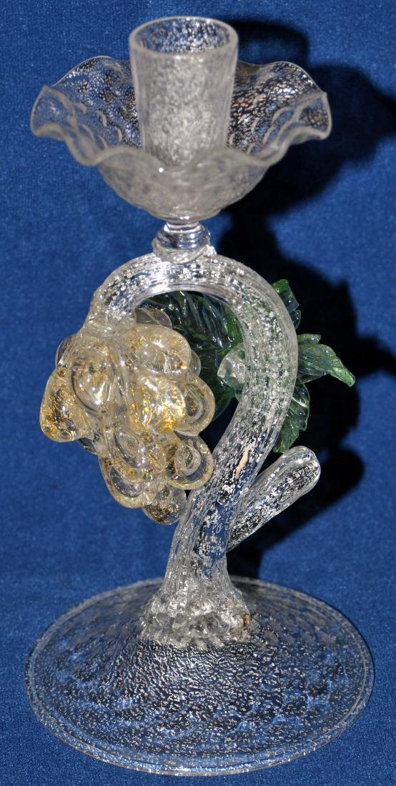 Murano glass candlestick hand blown - 7