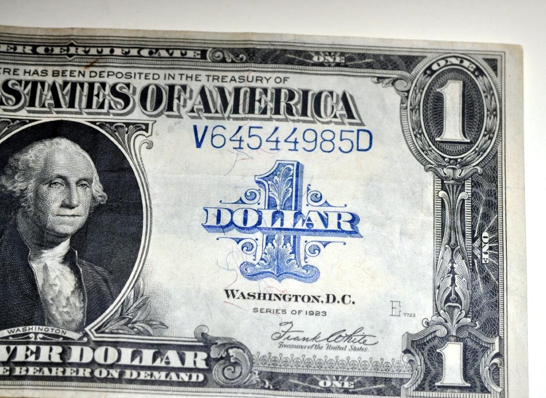 American US $1 silver certificate 1923 - 4