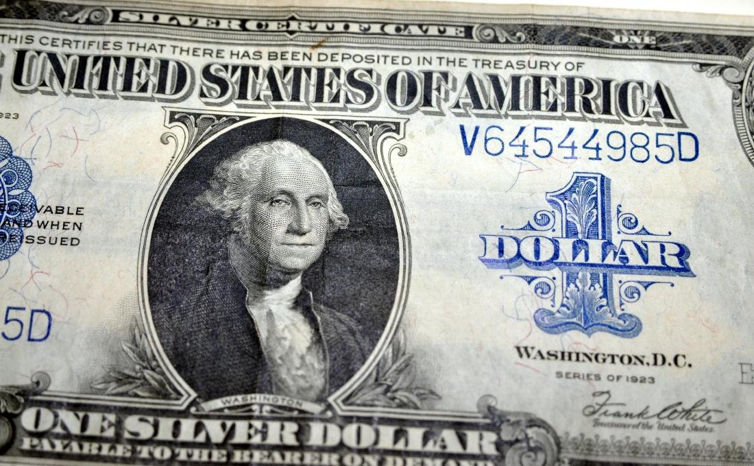 American US $1 silver certificate 1923 - 6