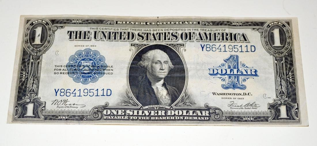 American US $1 silver certificate 1923 - 7