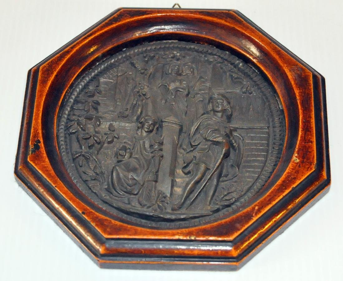 Bronze vintage wall picture repousse