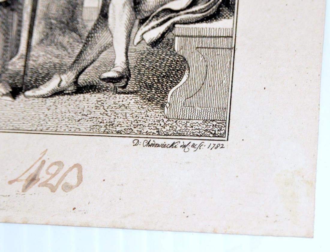David Chodowiecki etching 1782 - 2