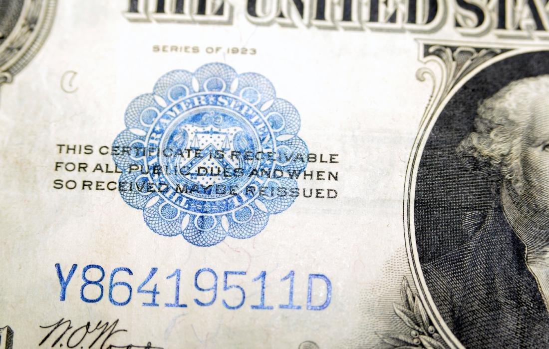 American US $1 silver certificate 1923 - 3