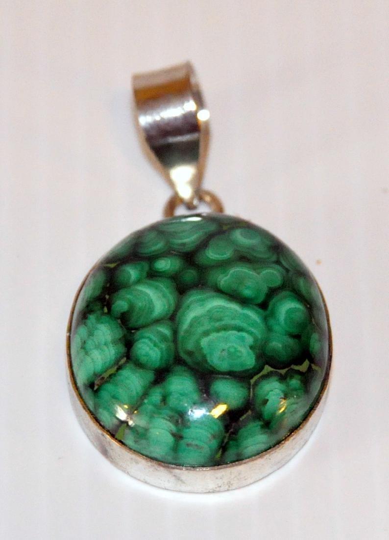 Malachite sterling pendant green - 2