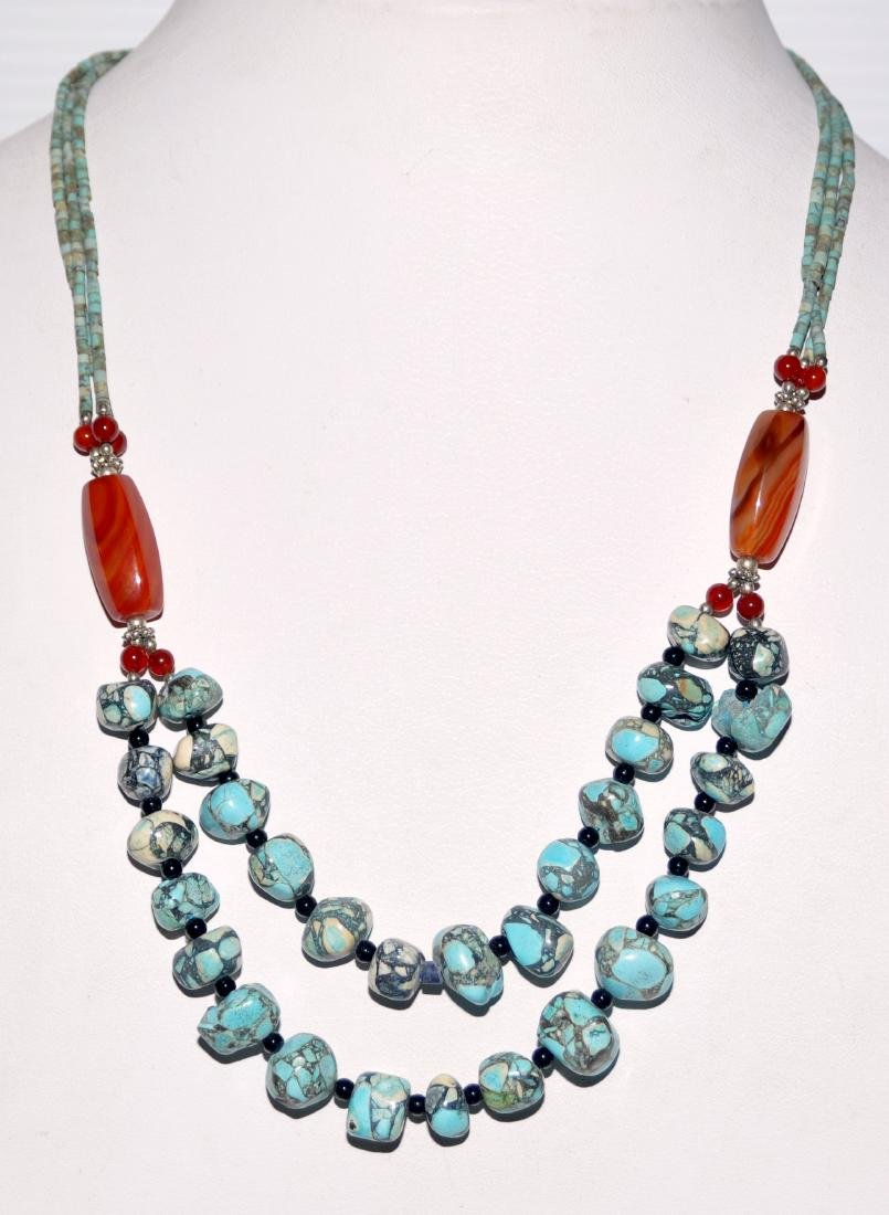 Turquoise howlite nugget necklace