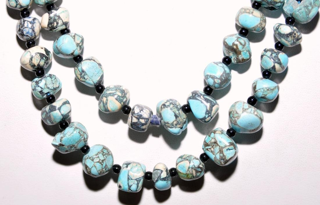 Turquoise howlite nugget necklace - 2