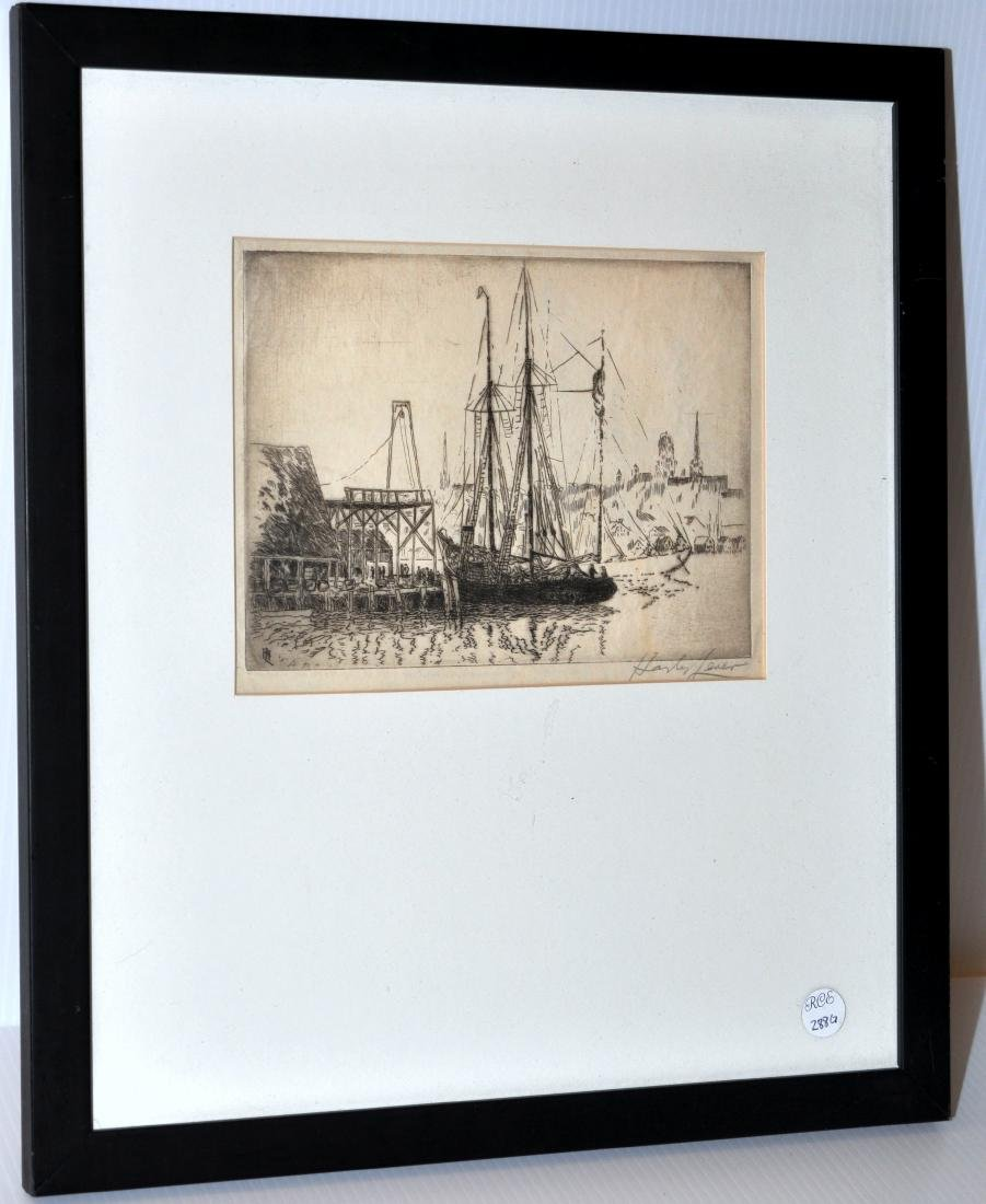 Hayley Lever etching Mayflower ship