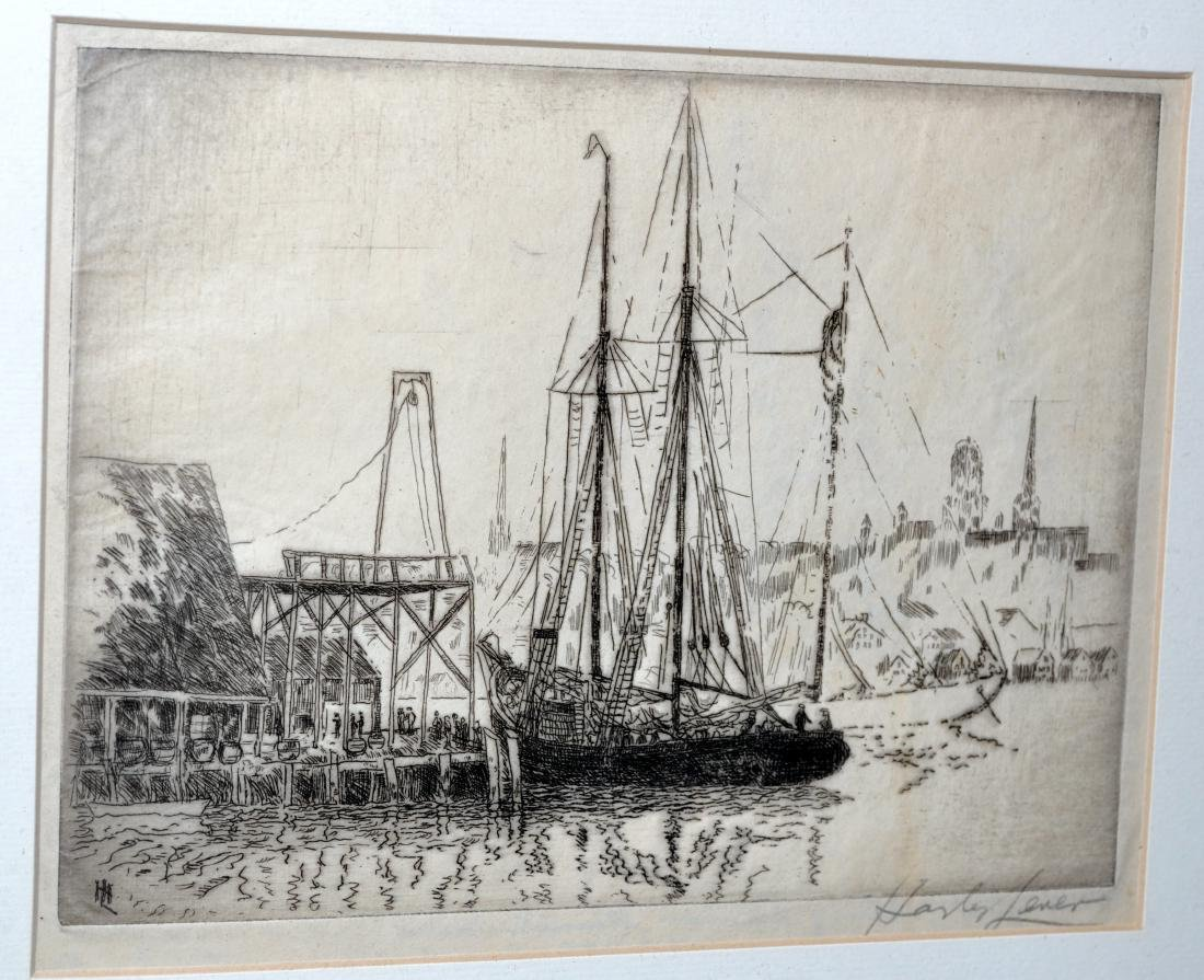 Hayley Lever etching Mayflower ship - 2