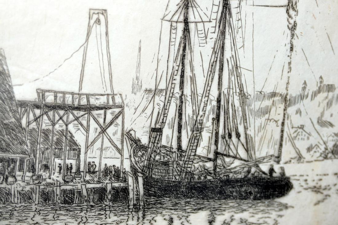 Hayley Lever etching Mayflower ship - 3