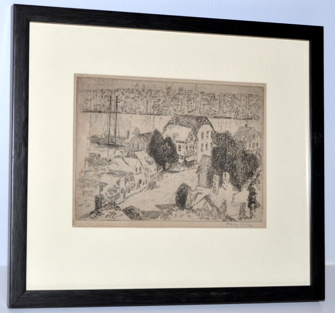 Hayley Lever etching Gloucester