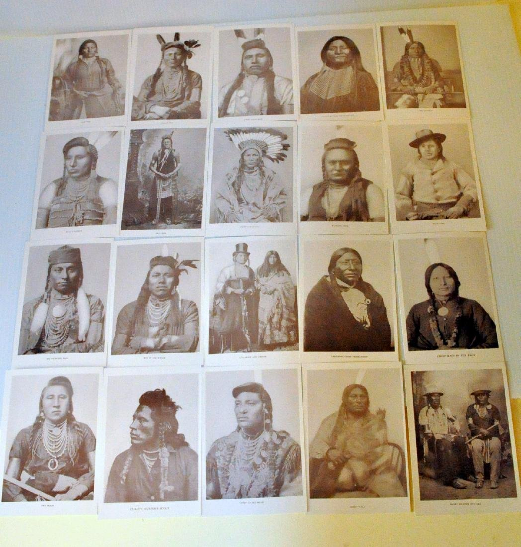 American Indian postcards chiefs