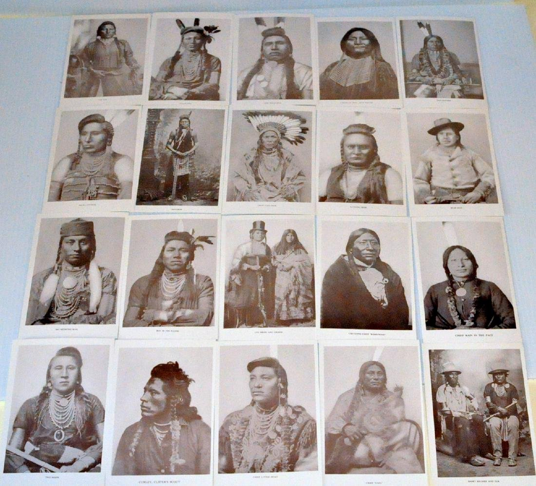 American Indian postcards chiefs - 2