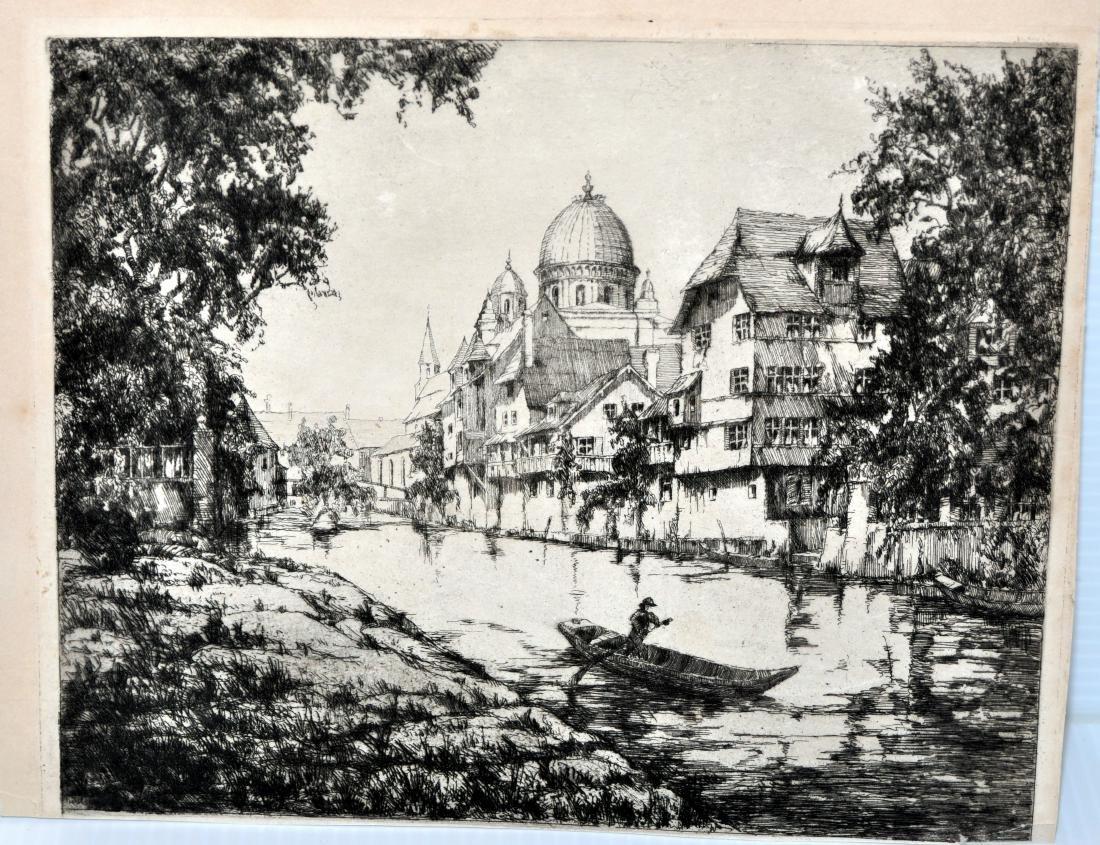 Fritz Botel etching 1920