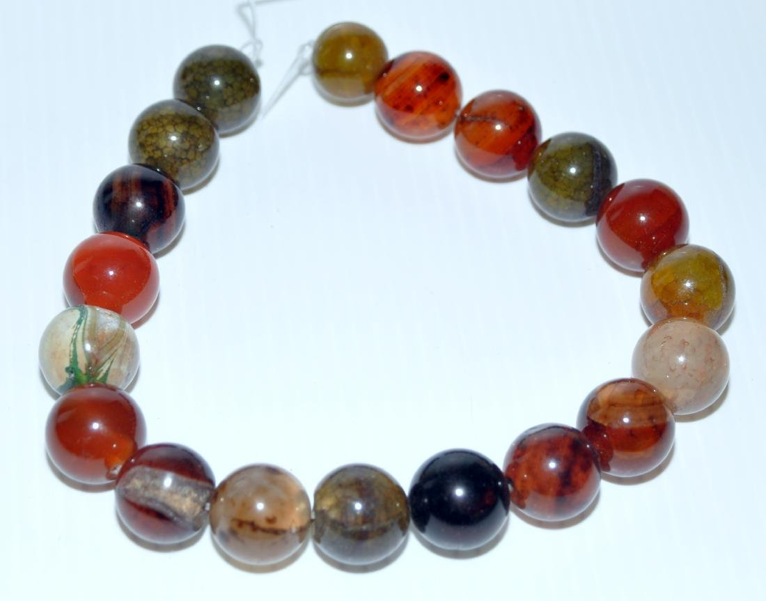 Large agate beads 20 mm banded agate