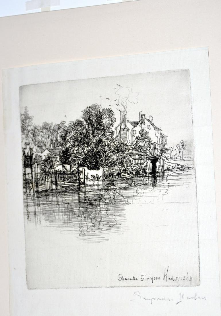 Etching signed Seymour Haden