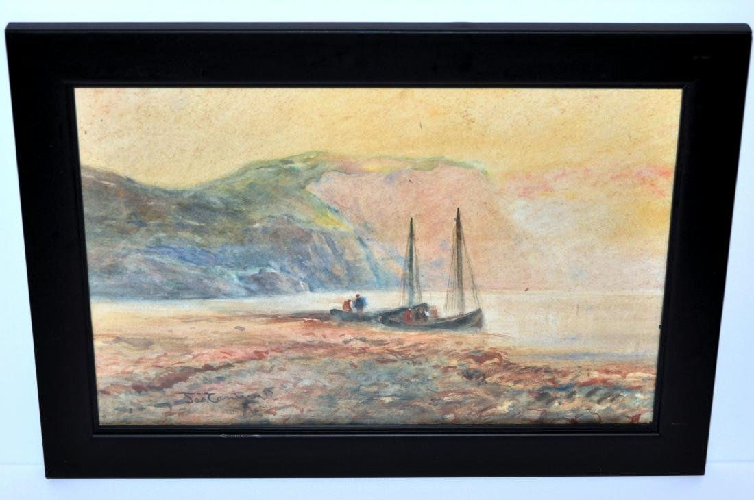 J. Cantwell watercolor signed vintage