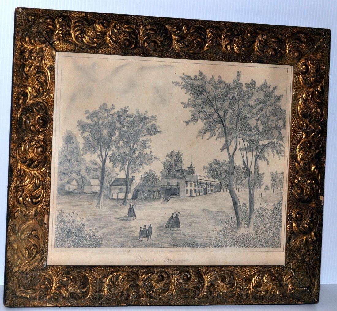 Mount Vernon graphite sketch