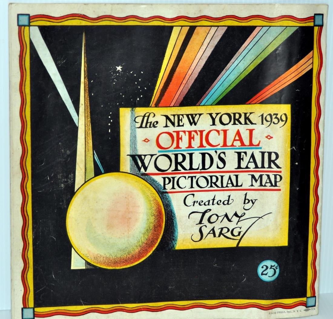 1939 Worlds Fair pictorial map
